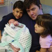 BB with Daddy, Cameron & Alena
