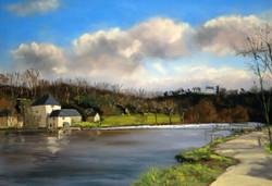 La Mayenne à Origné Pastel35x50
