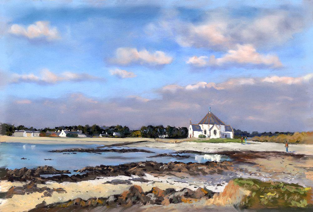 La chapelle de Penvins  Pastel 35x50