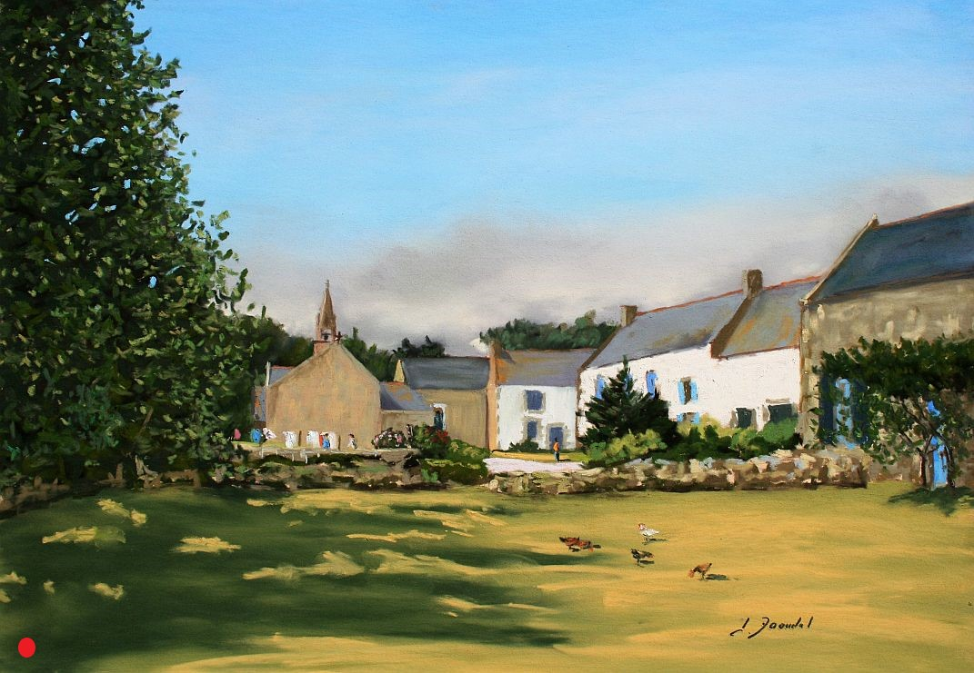 Village à Erdeven Pastel 35x50