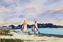Les catamarans Pastel 20x30