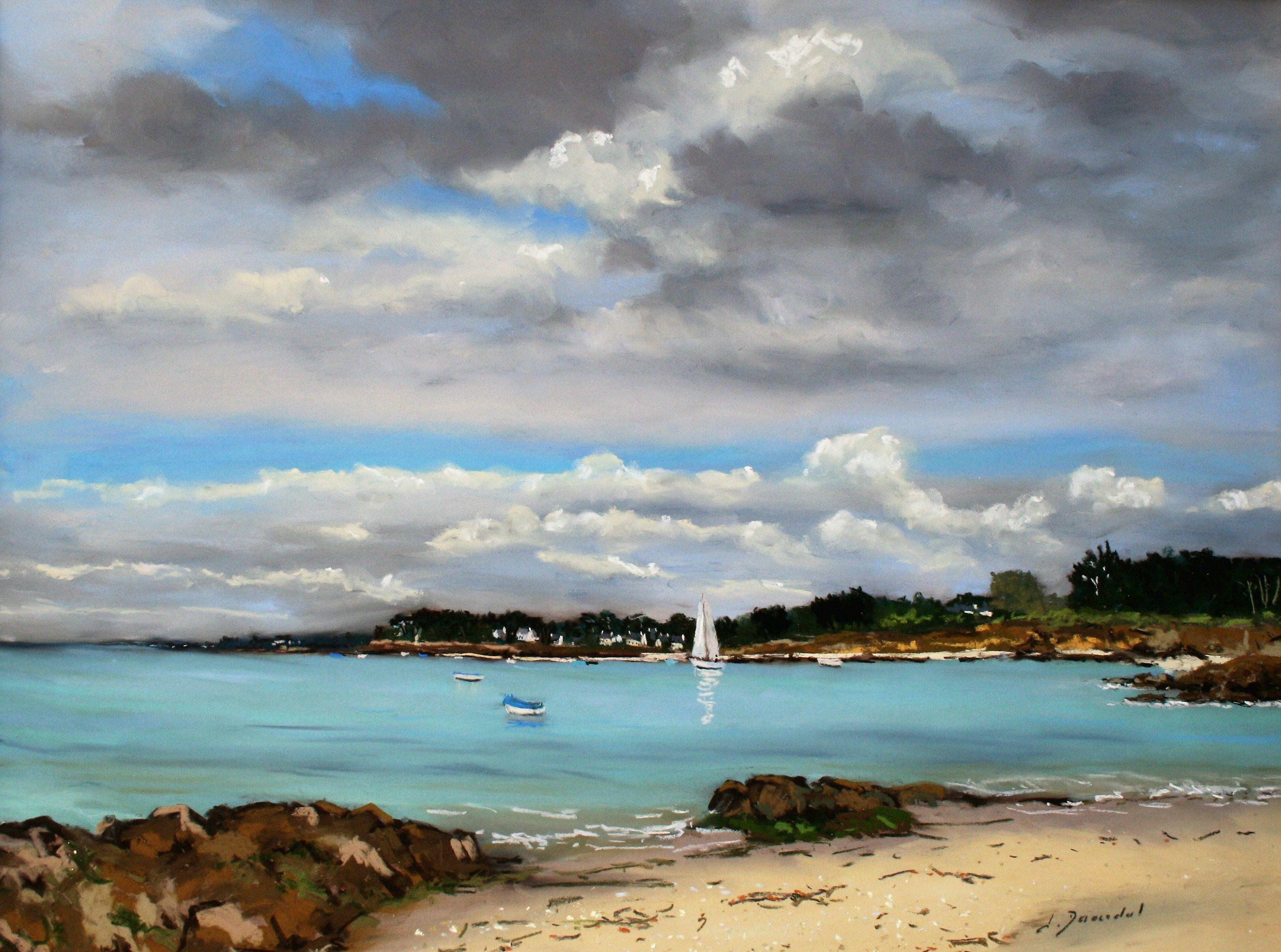 A Saint Pierre Quiberon Pastel 46x61