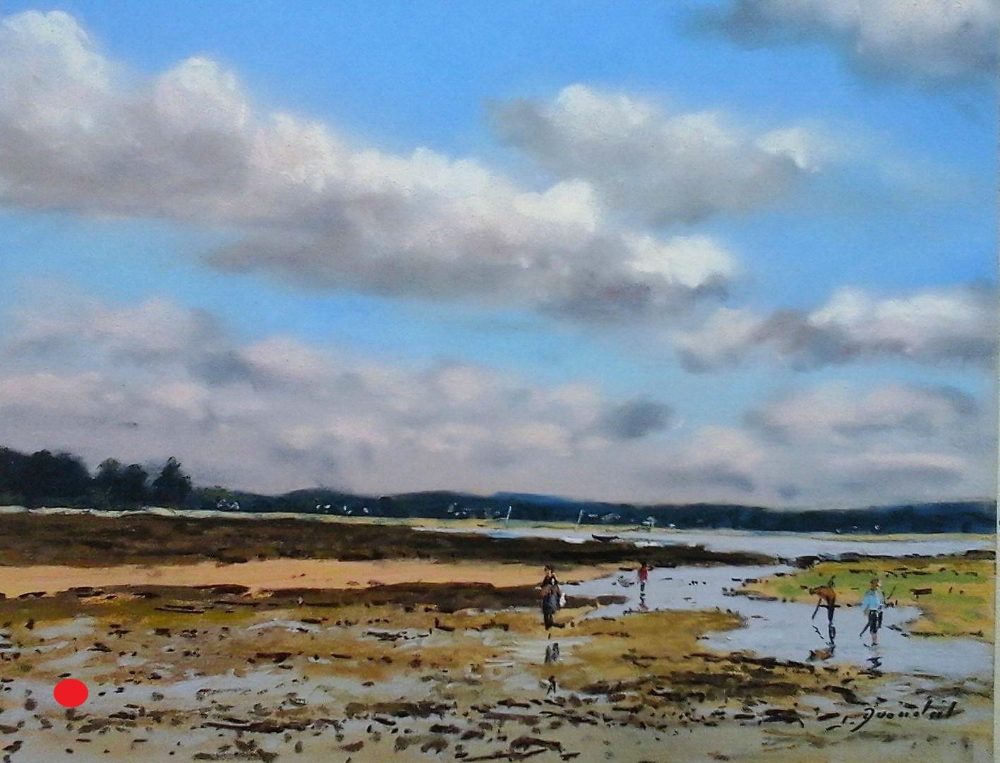 Marée basse à Penvins Pastel20x30