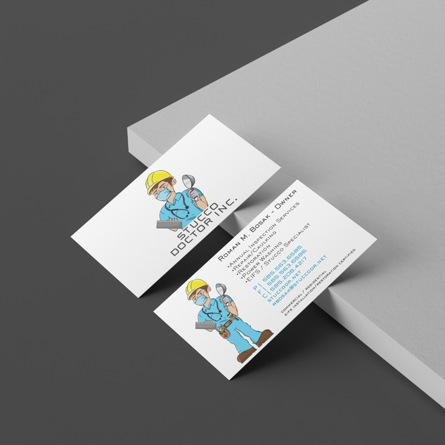 Stucco Dr. Business Cards