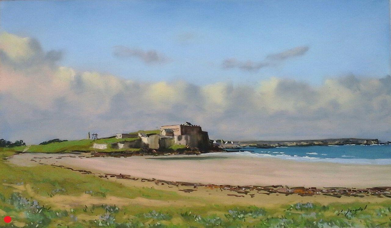 Le fort de Penthièvre Pastel 30x50