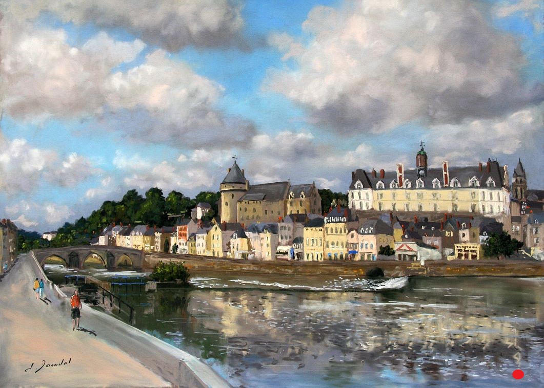 Vue de Laval Pastel 46x61