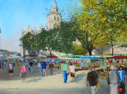Le marché de Laval Pastel 30x40