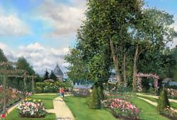 La roseraie Pastel 46x61