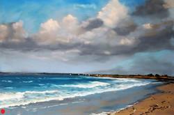 Penvins la grande plage  Pastel 30x40