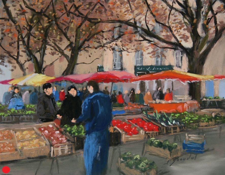 Au marché Pastel 24x33