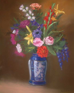 Bouquet au vase chinois
