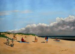 Sur la plage pastel 24x33