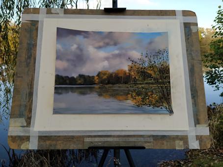 Une belle séance de plein air sur l'étang d'Olivet