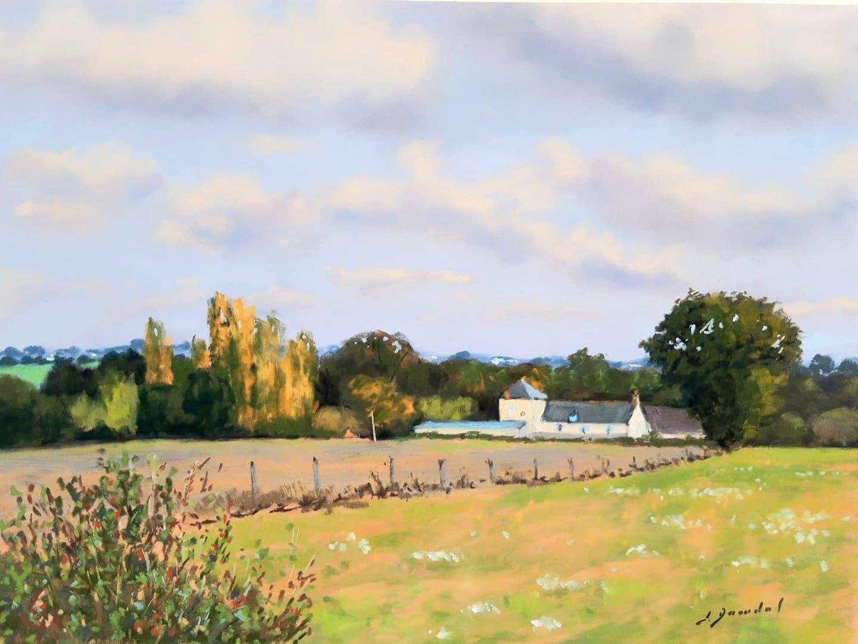 Ferme en Mayenne Pastel 30x40