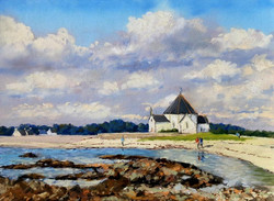 La chapelle de Penvins Pastel 30x40