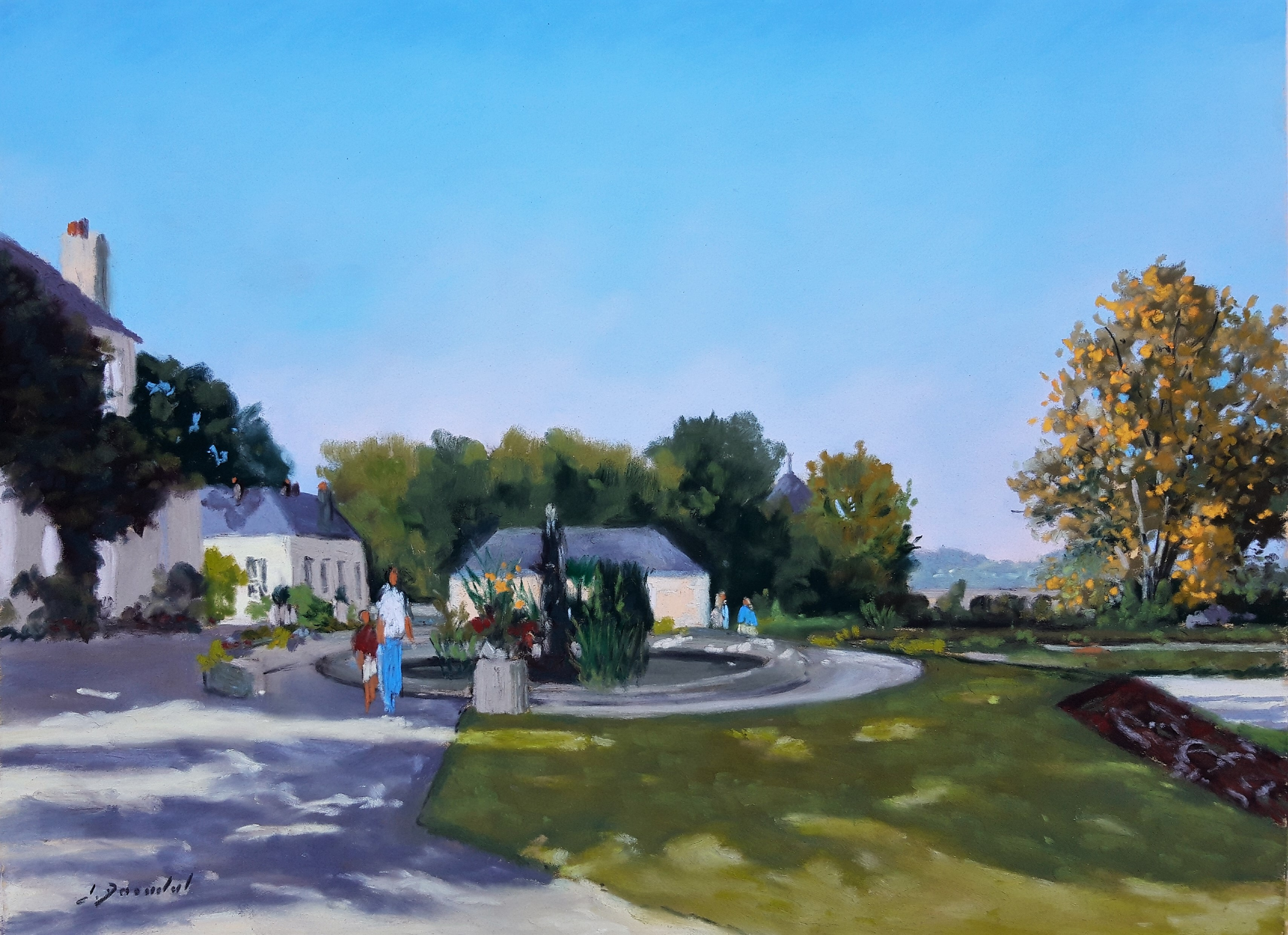 Laval le jardin de la Perrine Pastel 30x40
