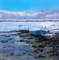 Marée basse Pastel 20x20