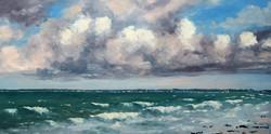 Les vagues Huile 25x50