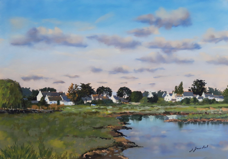 Marais à Penerf Pastel 40x50