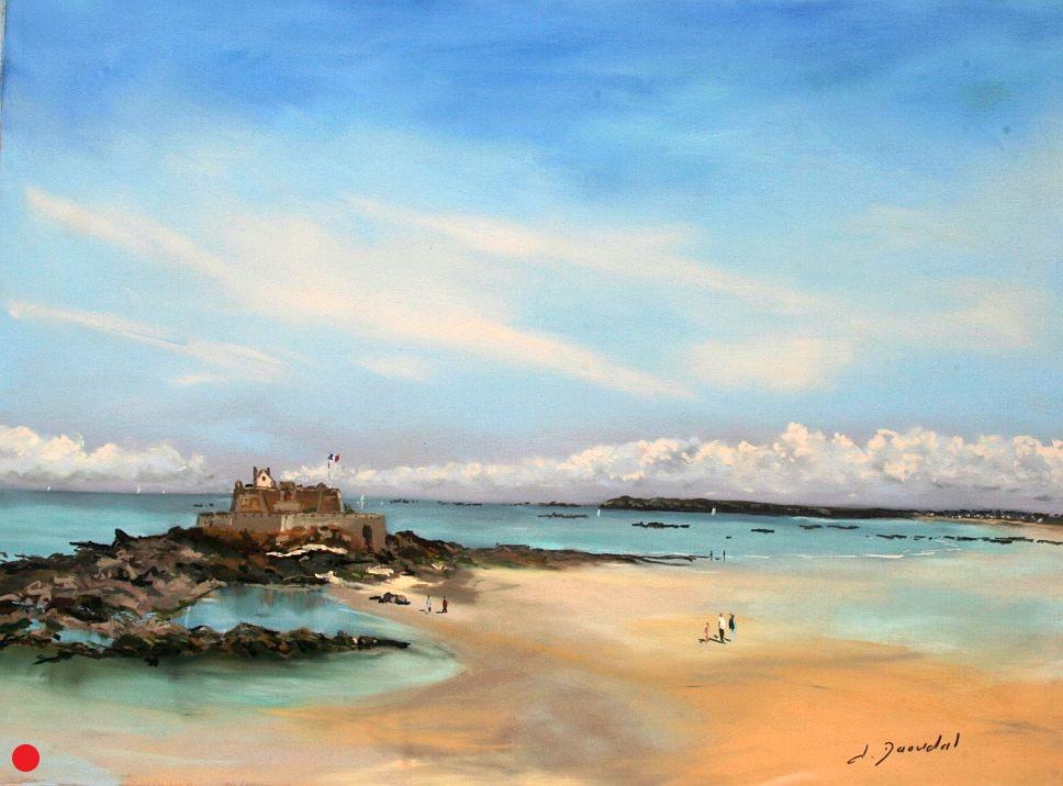Saint Malo le fort national Pastel 46x61