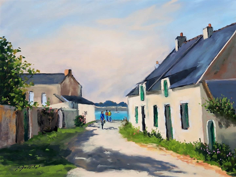 Rue de la douane Penerf Pastel 30x40