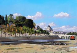 Ecourues sur la  Mayenne Pastel 23x33