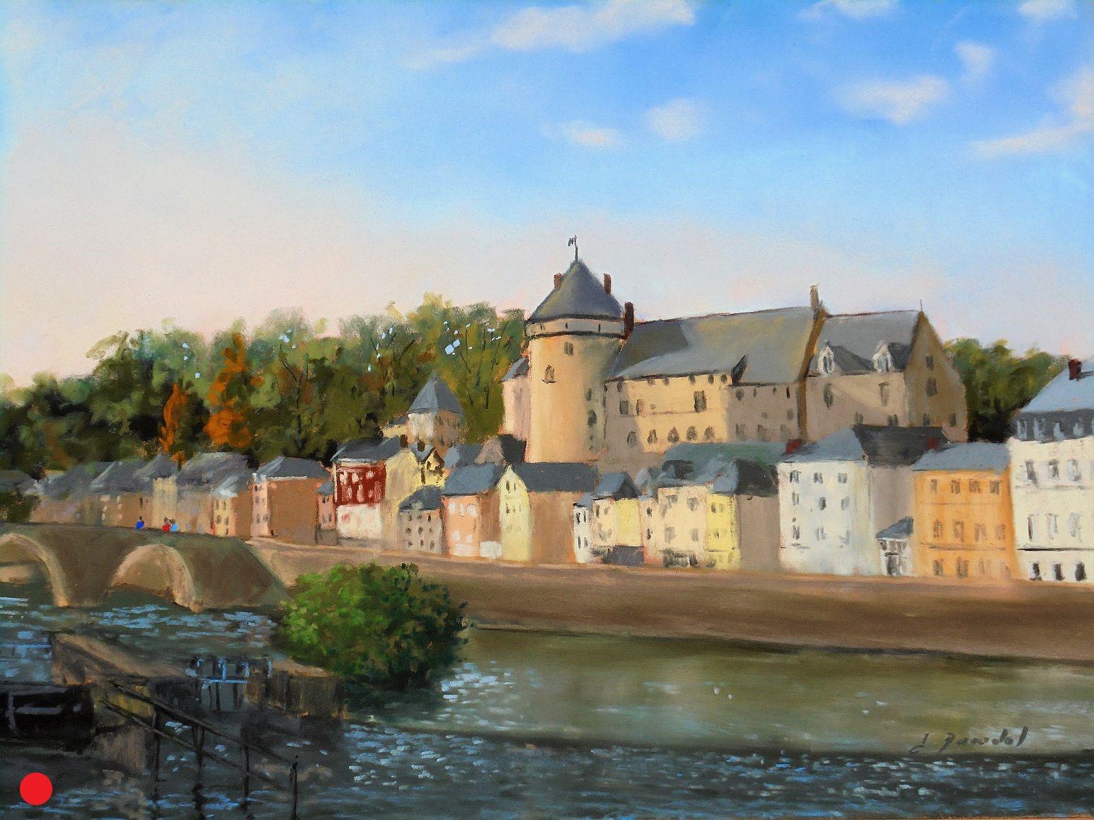 Laval, le chateau Pastel 46x61