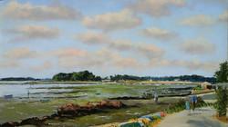 Langle Presqu'île de Séné Pastel 30x50