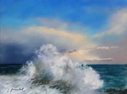 La vague Pastel 18x24
