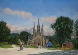 Le pardon de St Fiacre Pastel 35x50