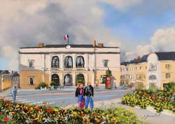 Laval Place de la mairie Pastel 20x30