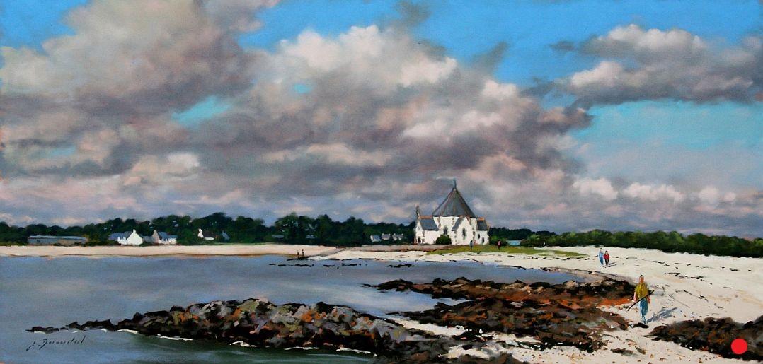 La chapelle de Penvins Pastel 25x50