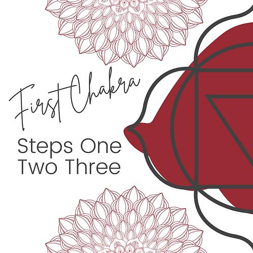 First Chakra Steps 1 2 3 - Workbook