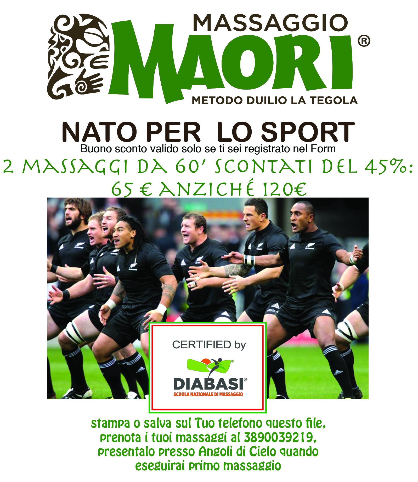 sconto massaggio Maori
