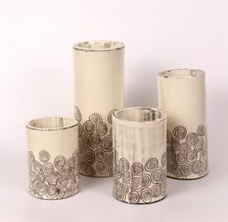 Set of White Vases
