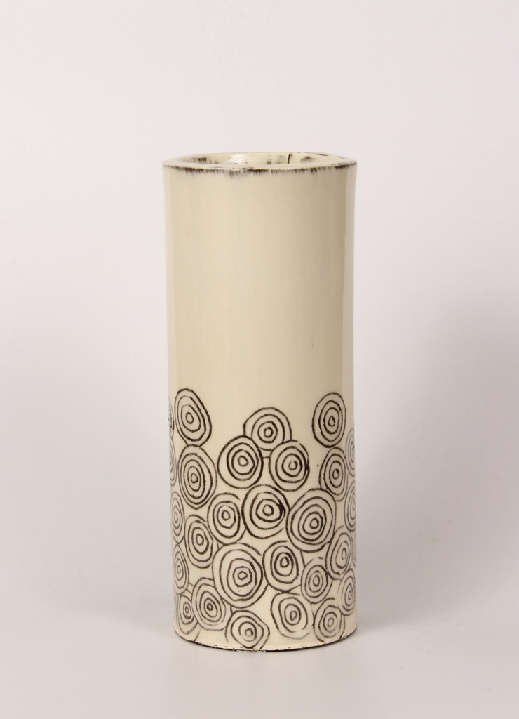 White Cylindrical Vase