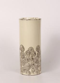 White Cylindrical Vase