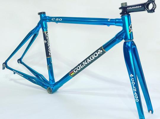 Blue chrome Colnago