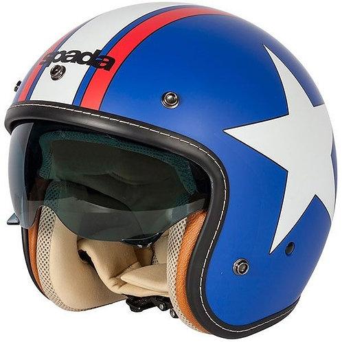 Spada Raze Openface Helmets Vil Blue/White/Red