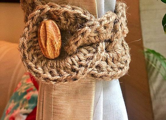 Braided curtain tie-backs