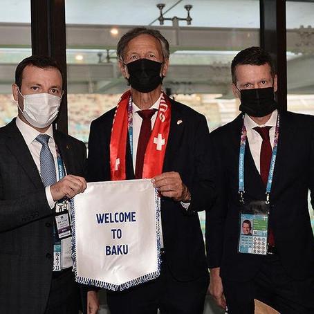 Elxan Məmmədov İsveçrə FA-nın prezidenti ilə görüşüb!