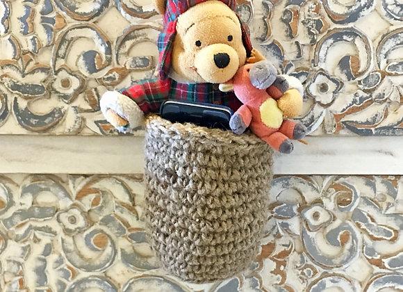 Hang-on-knob basket