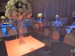 LED lit Wedding Tables