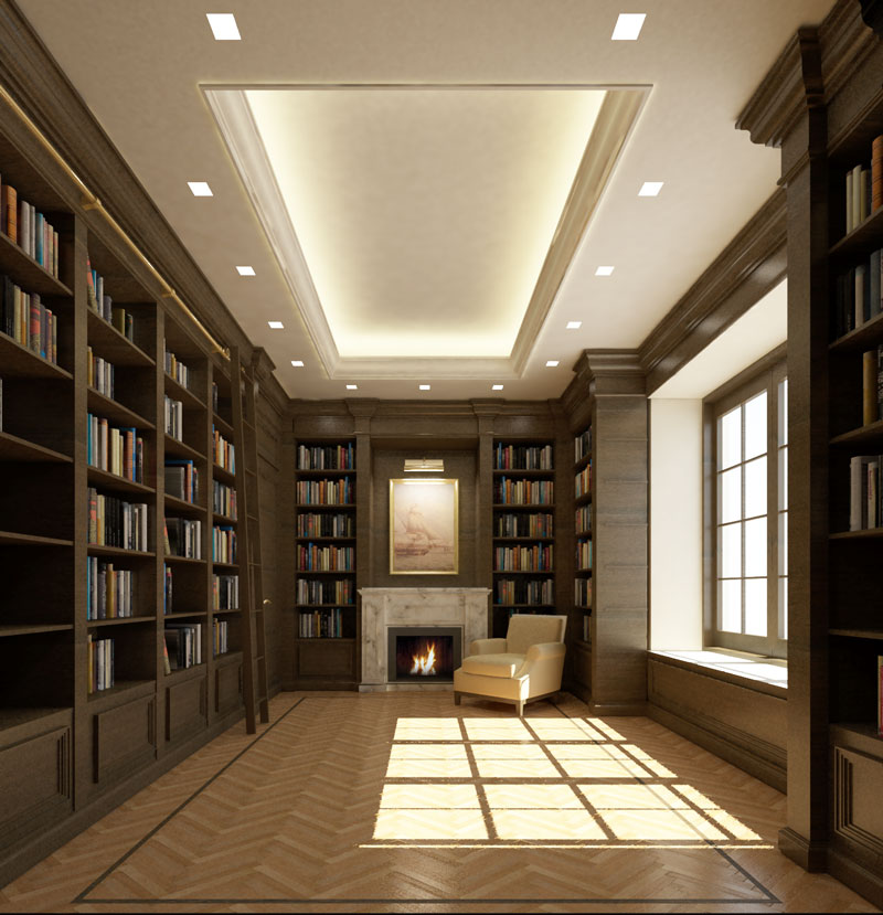 Home library  Interior Designer