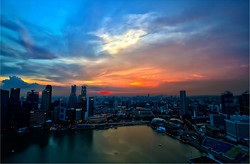 Singapore at sunset x