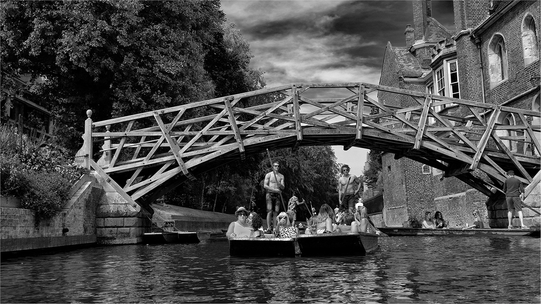 Old bridge in Oxford B&W 2 x