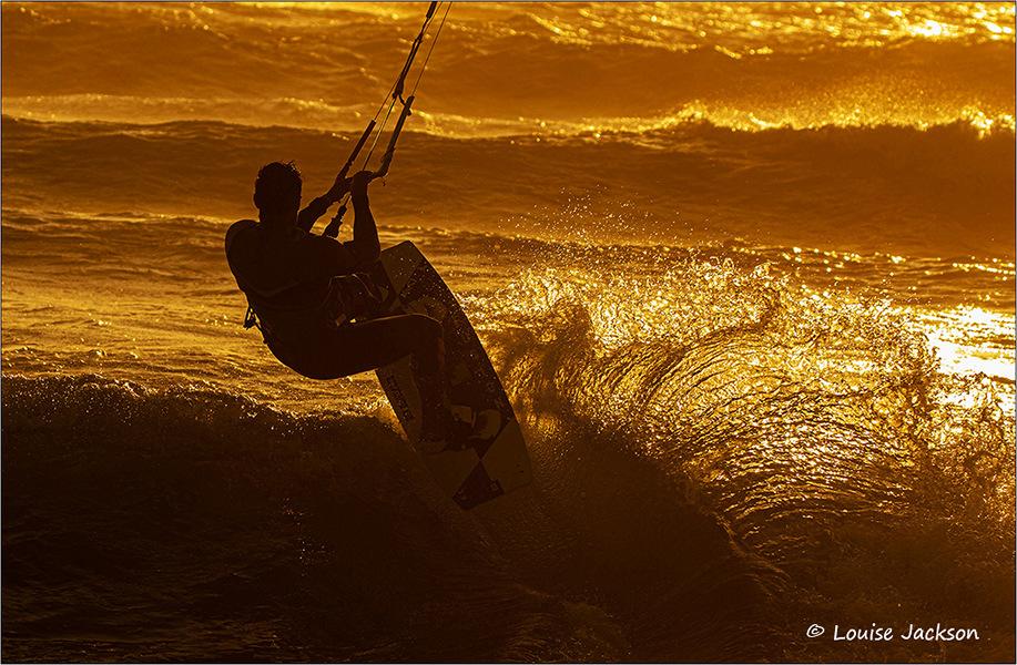 Kite surfer in last light fb
