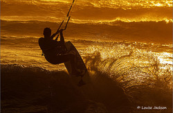 Kite surfer in last light fb