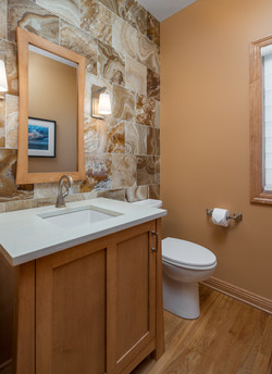 Powder Room with Natural Onyx