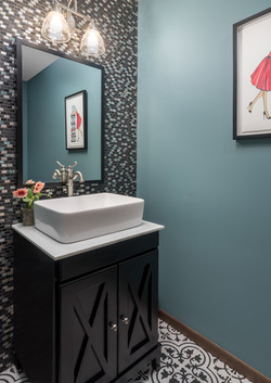 Whimsical Modern Powder Room